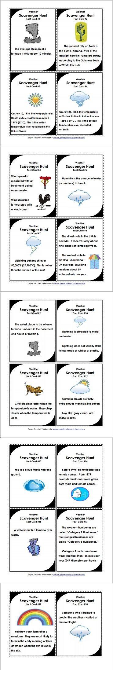 Weather scavenger hunt let the games begin! Science