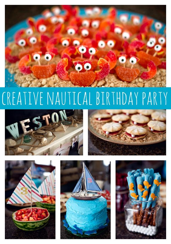 Creative Nautical Birthday Party Birthdays, Creative and