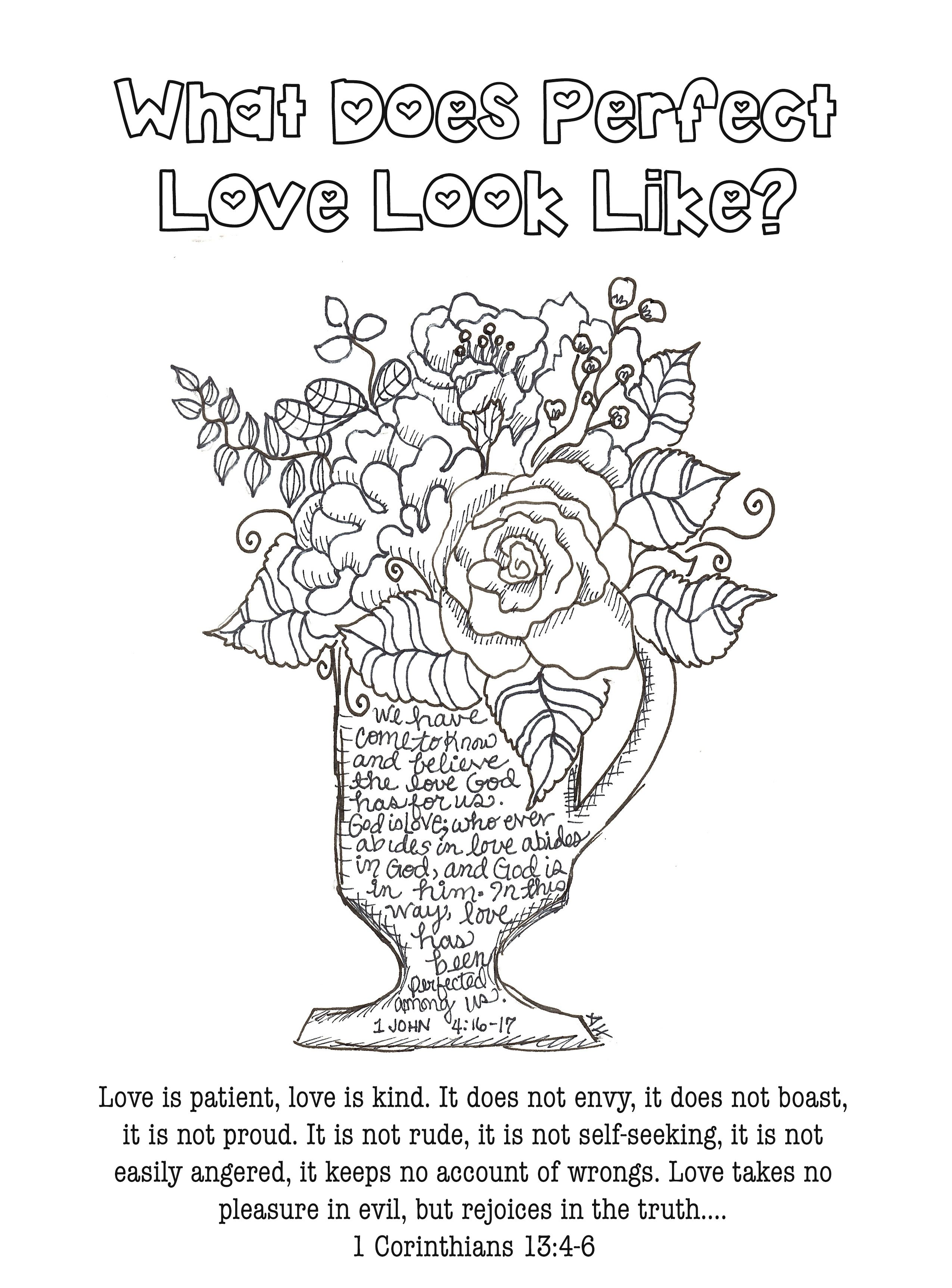 Love Is Patient Coloring Page