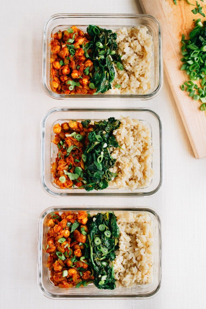 Curried Chickpea Bowls with Garlicky Spinach Recipe