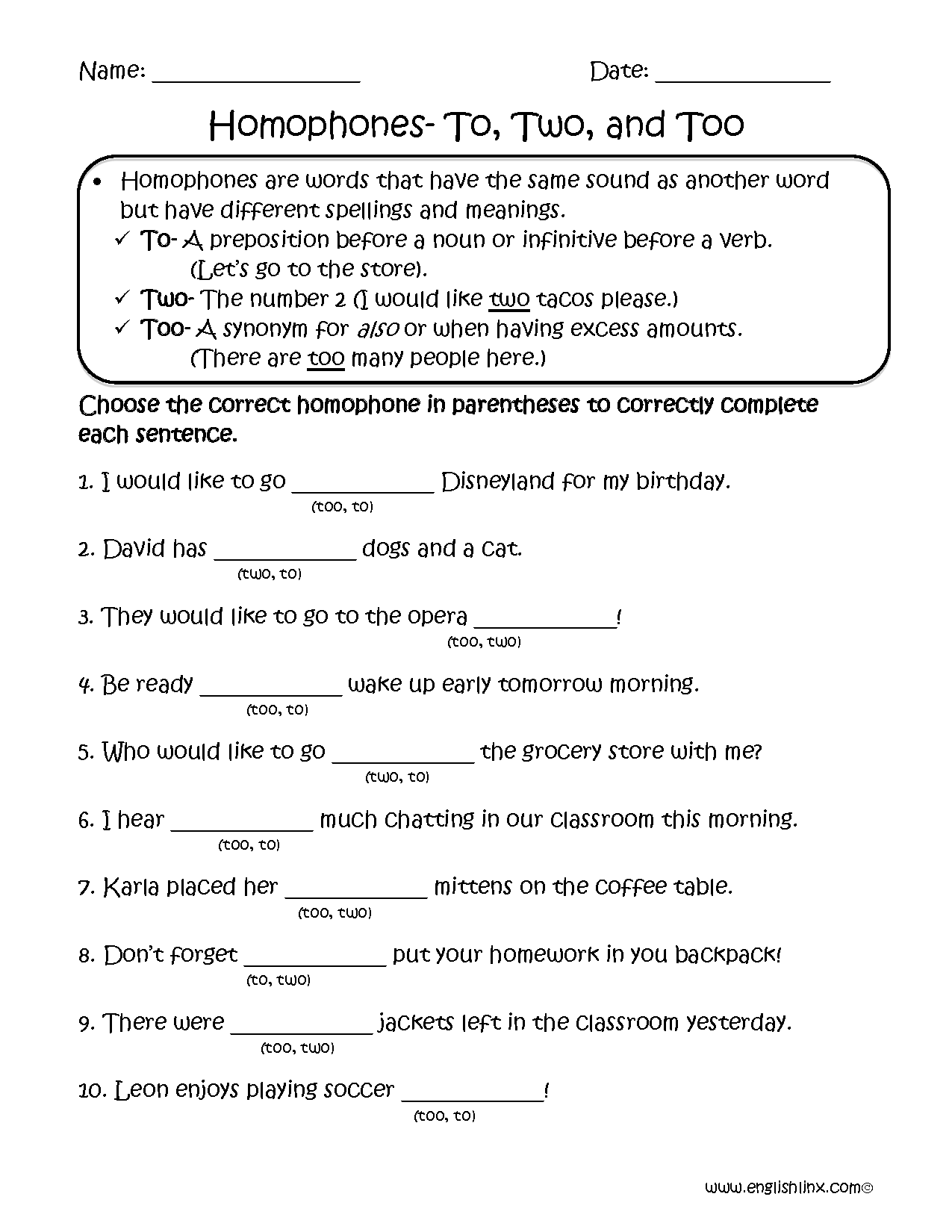 My Year In Review Worksheet
