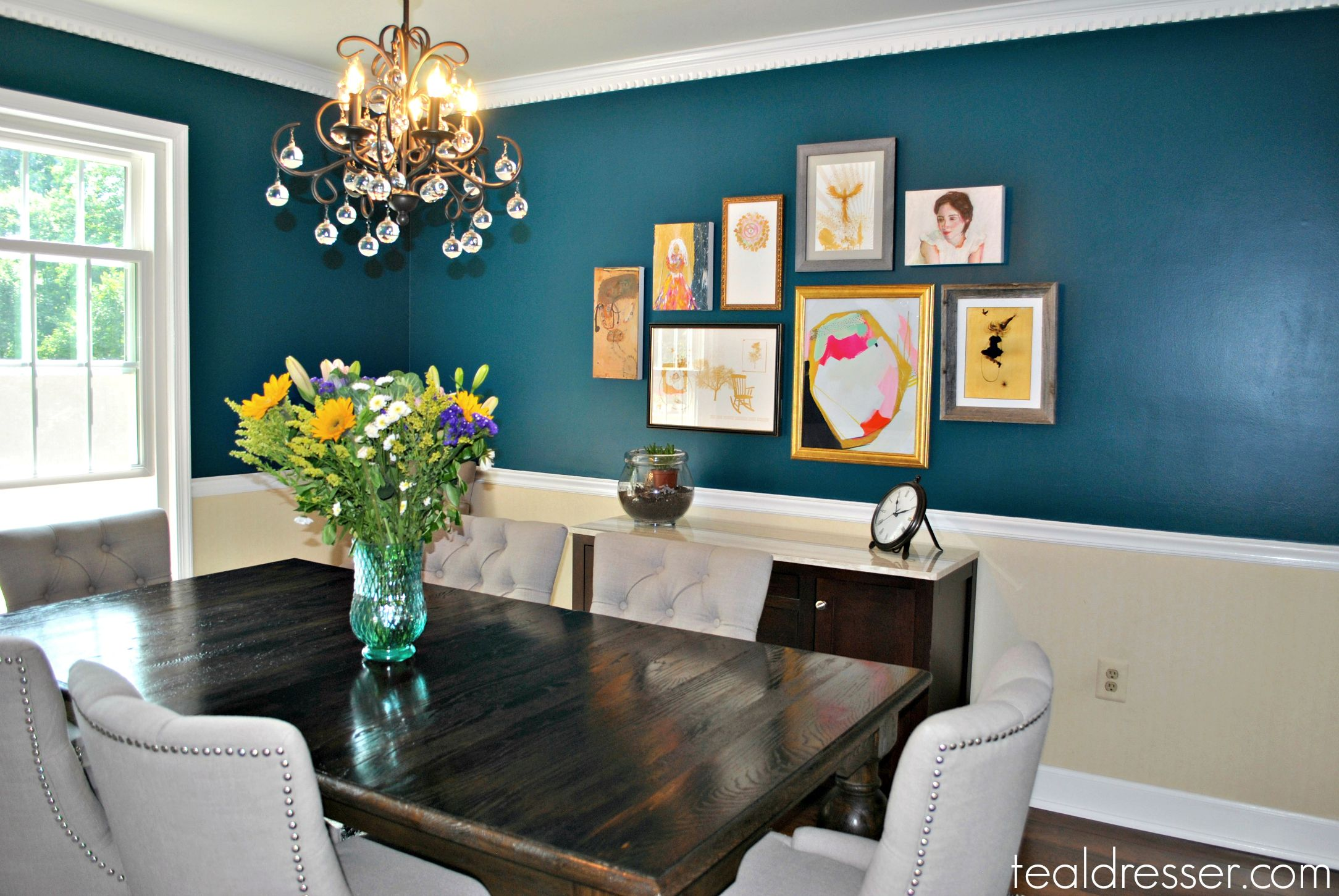 Teal In The Dining Room