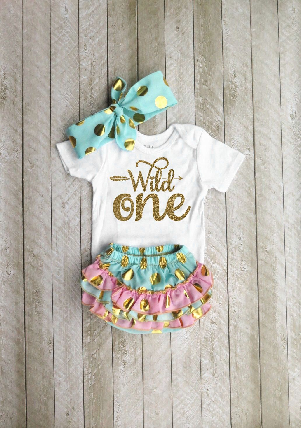 Wild one Wild one first birthday Mint and gold first