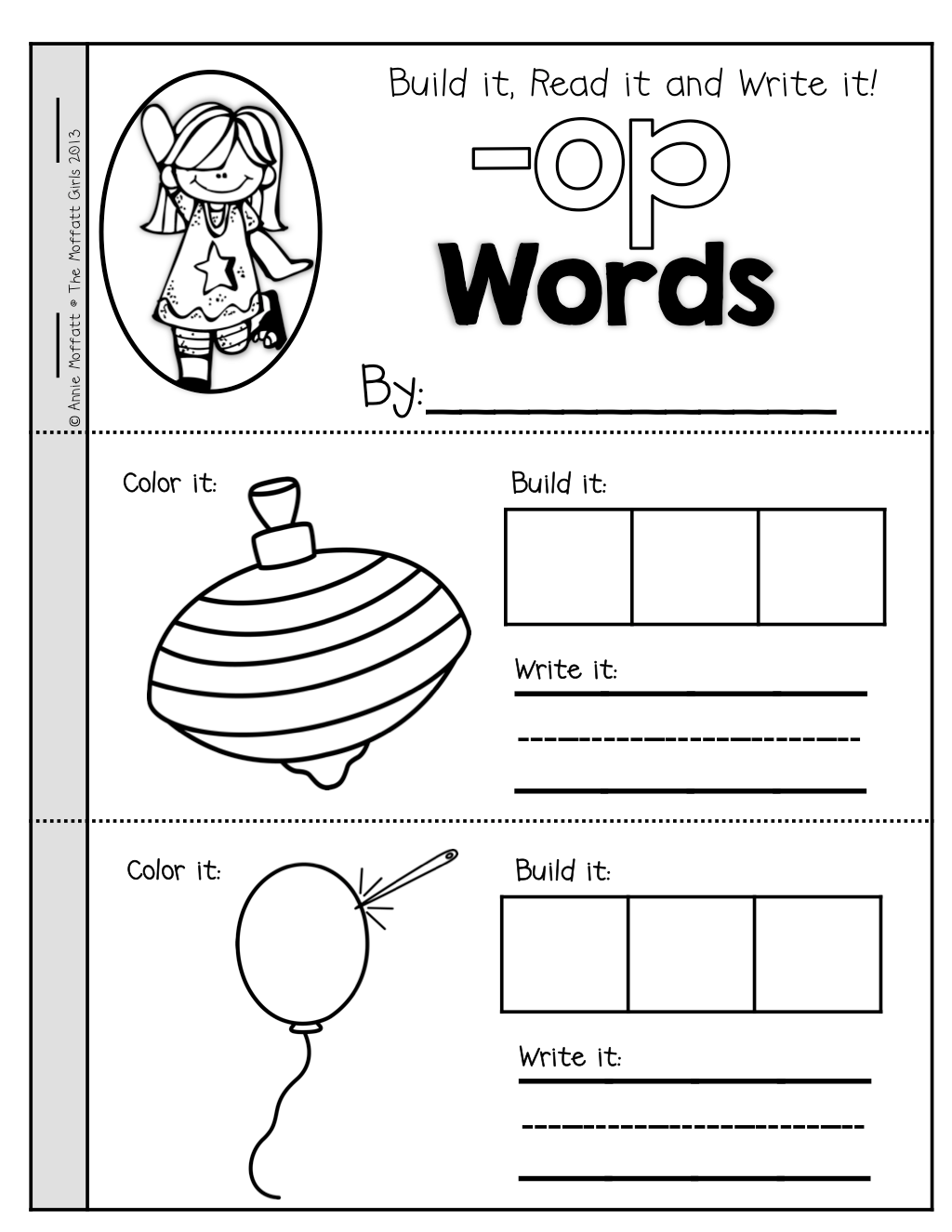 Cvc Booklets For The 23 Most Common Cvc Word Families Students Get To Build The Word Write The