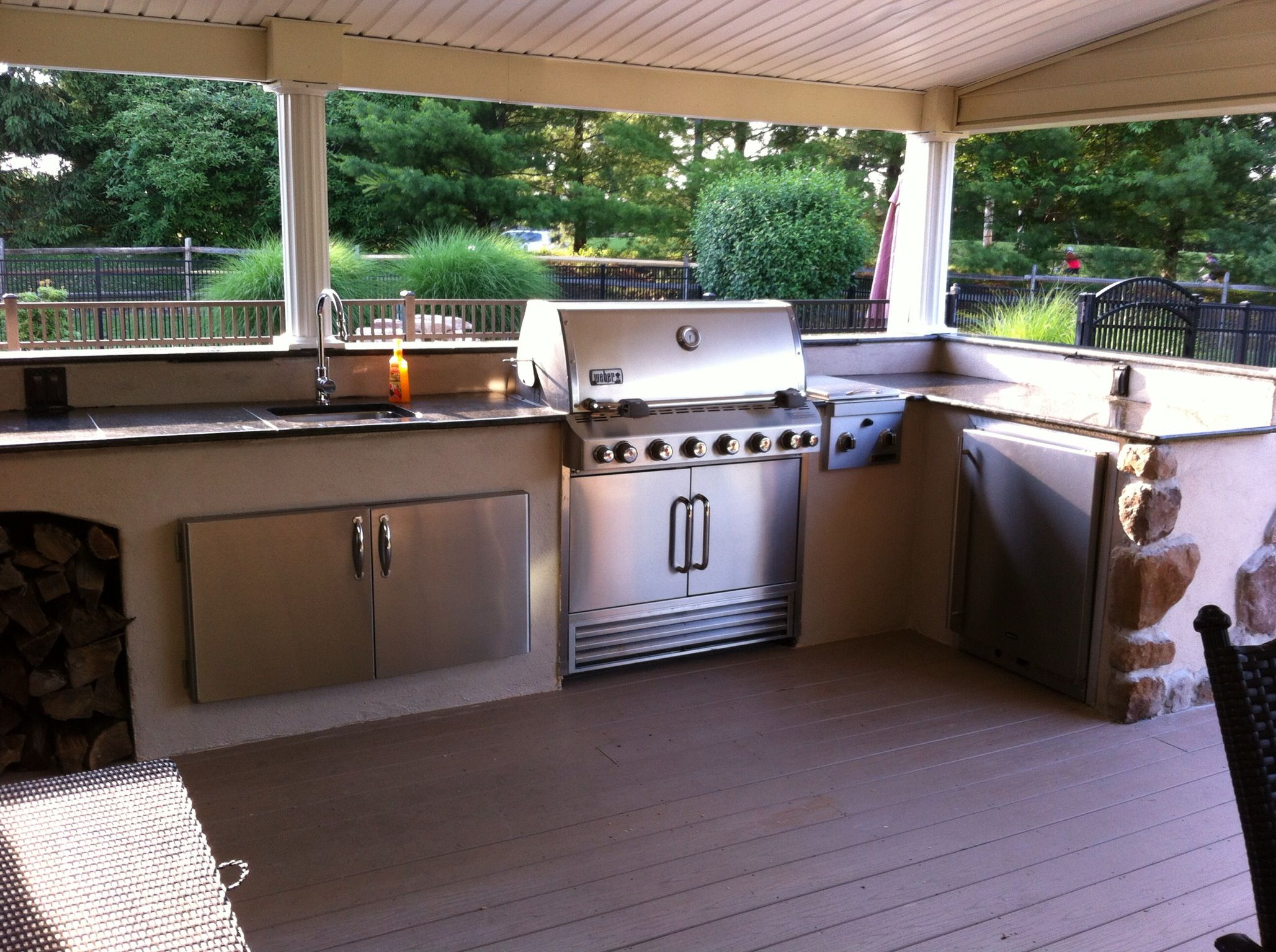 Our outdoor kitchen on a budget! Bought everything off