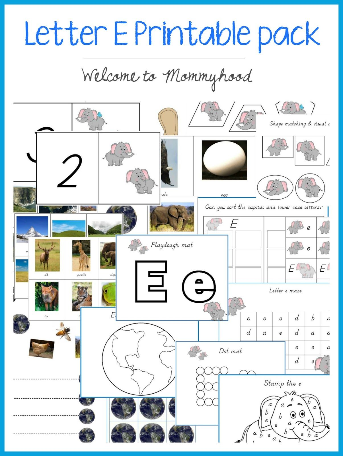 Tot Labs Presents Letter Of The Week Letter Ee Here Are Tons Of Montessori Inspired Hands On