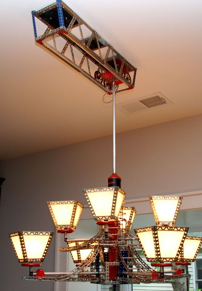 Erector Set Chandelier On Moving Track By Rick Singleton Lighting This Looks Very Familiar