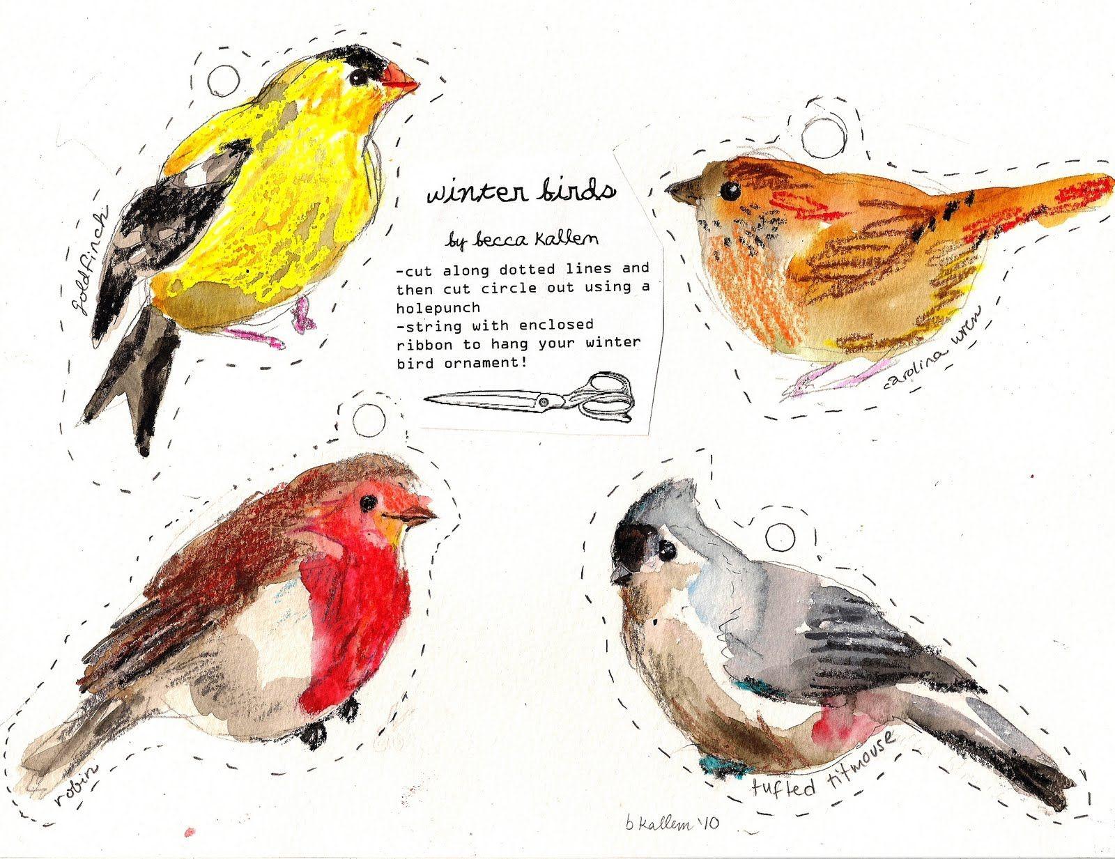 Free Printable Bird Git Tags