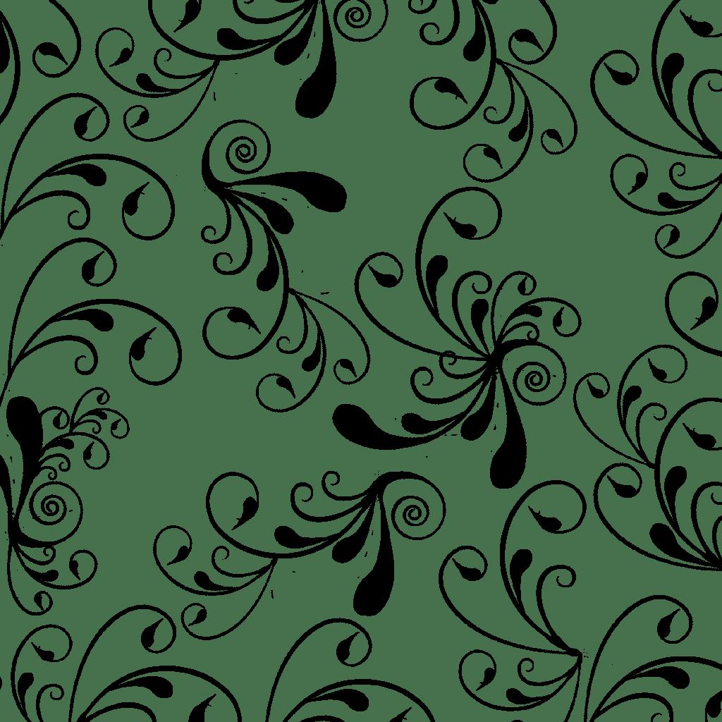 Swirl Cute Flower png Black Swirl Backgrounds, wallpaper