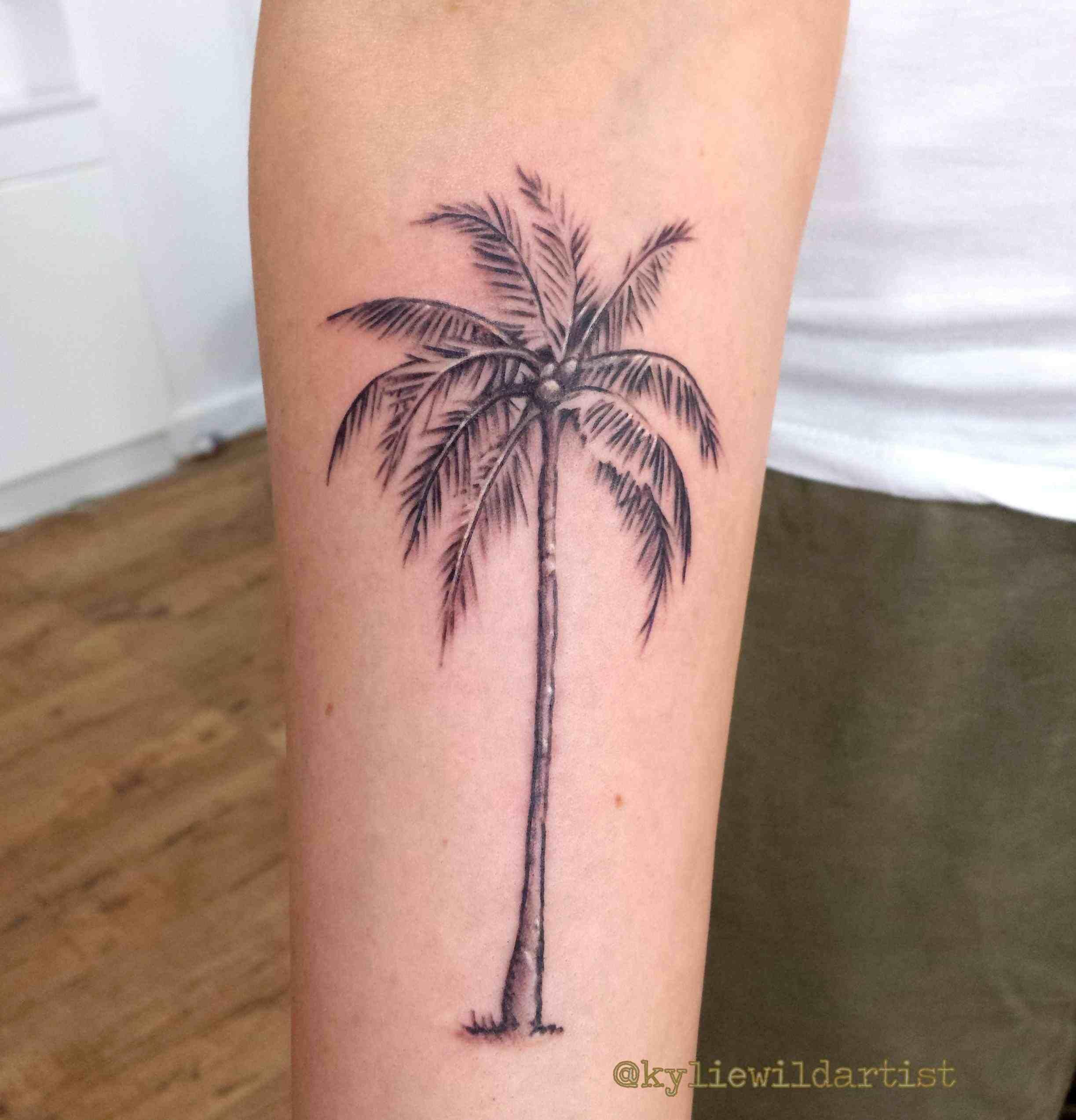 Image result for palm tree tattoo Palm tree tattoo