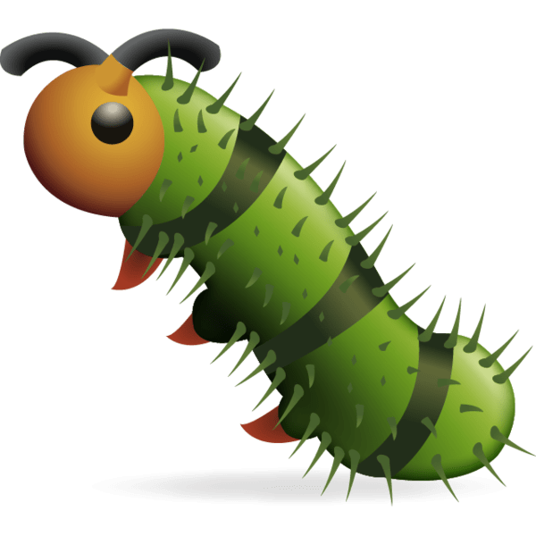 Download Caterpie Bug Emoji Png This green striped