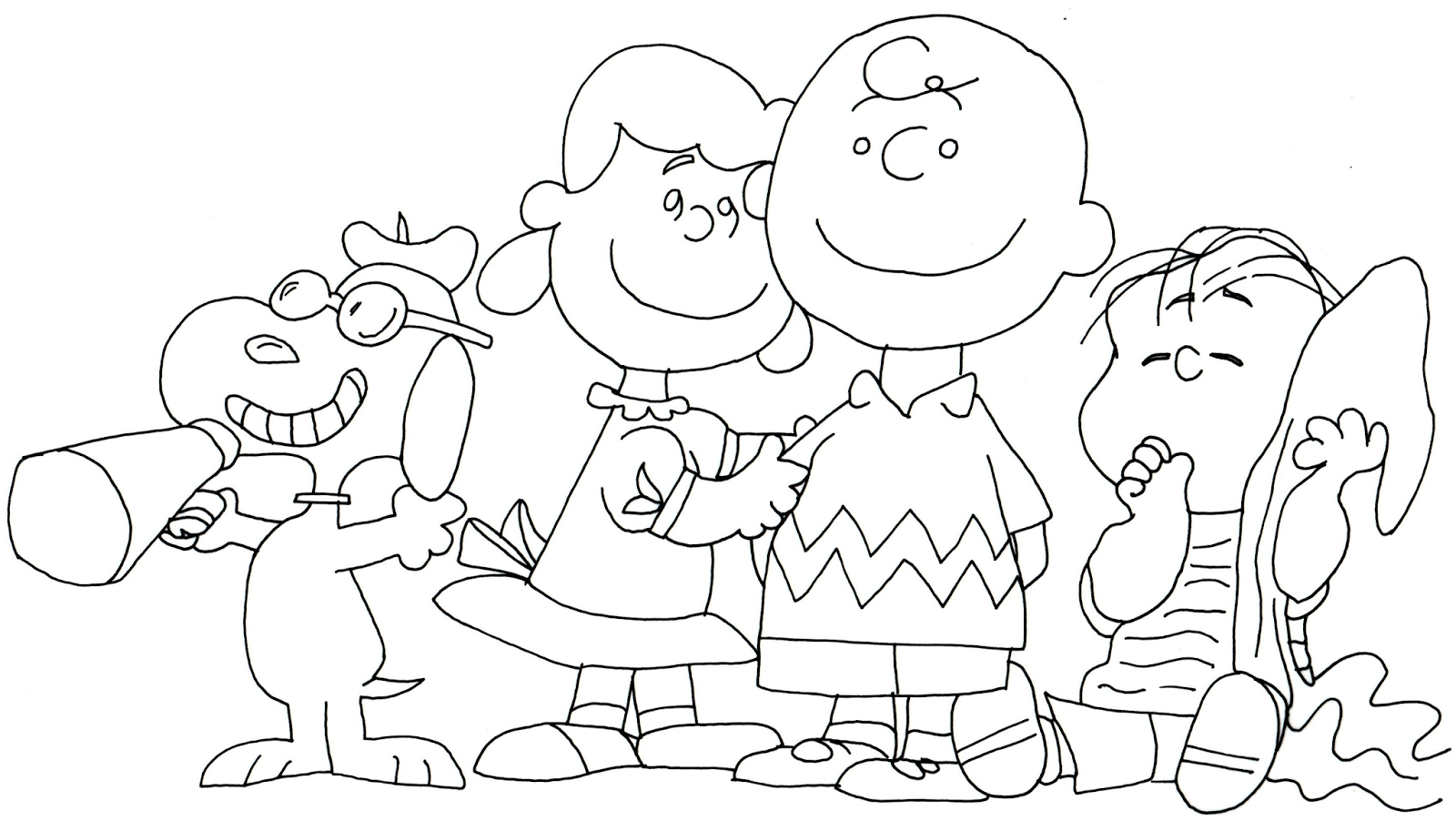 Free Printable Coloring Page For Snoopy Lucy Charlie