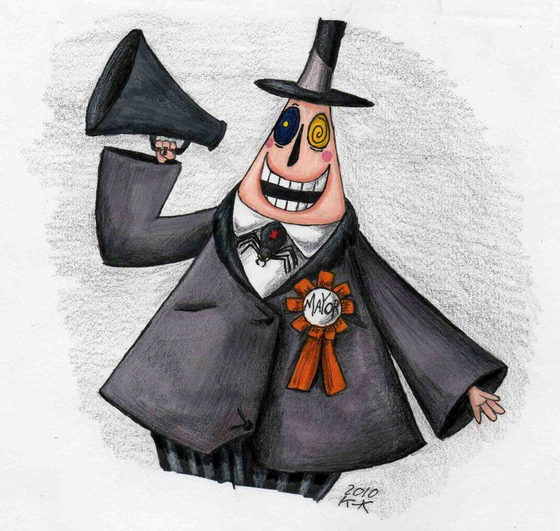 the nightmare before christmas characters drawings