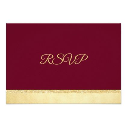 Personalized Fall Burgundy Gold Rsvp Wedding Card Invitations Cards Custom Invitation Design Marriage