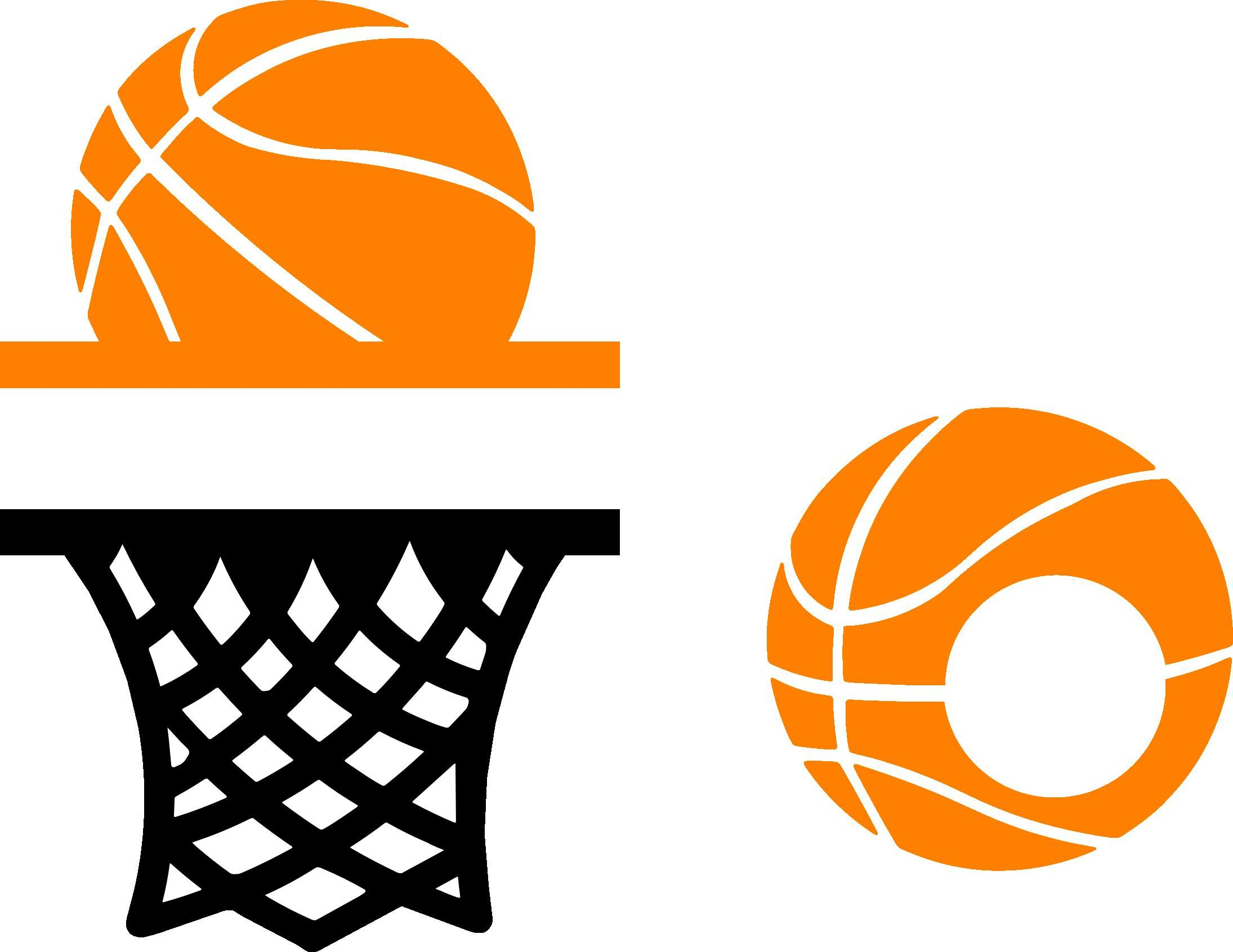 Basketball Monograms Cut Files. Cut these sports monograms