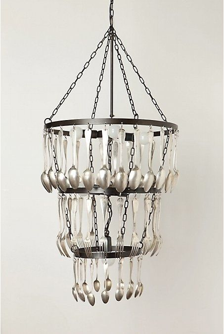 Silverware Chandelier 16 Clever Diy Projects Made With Old