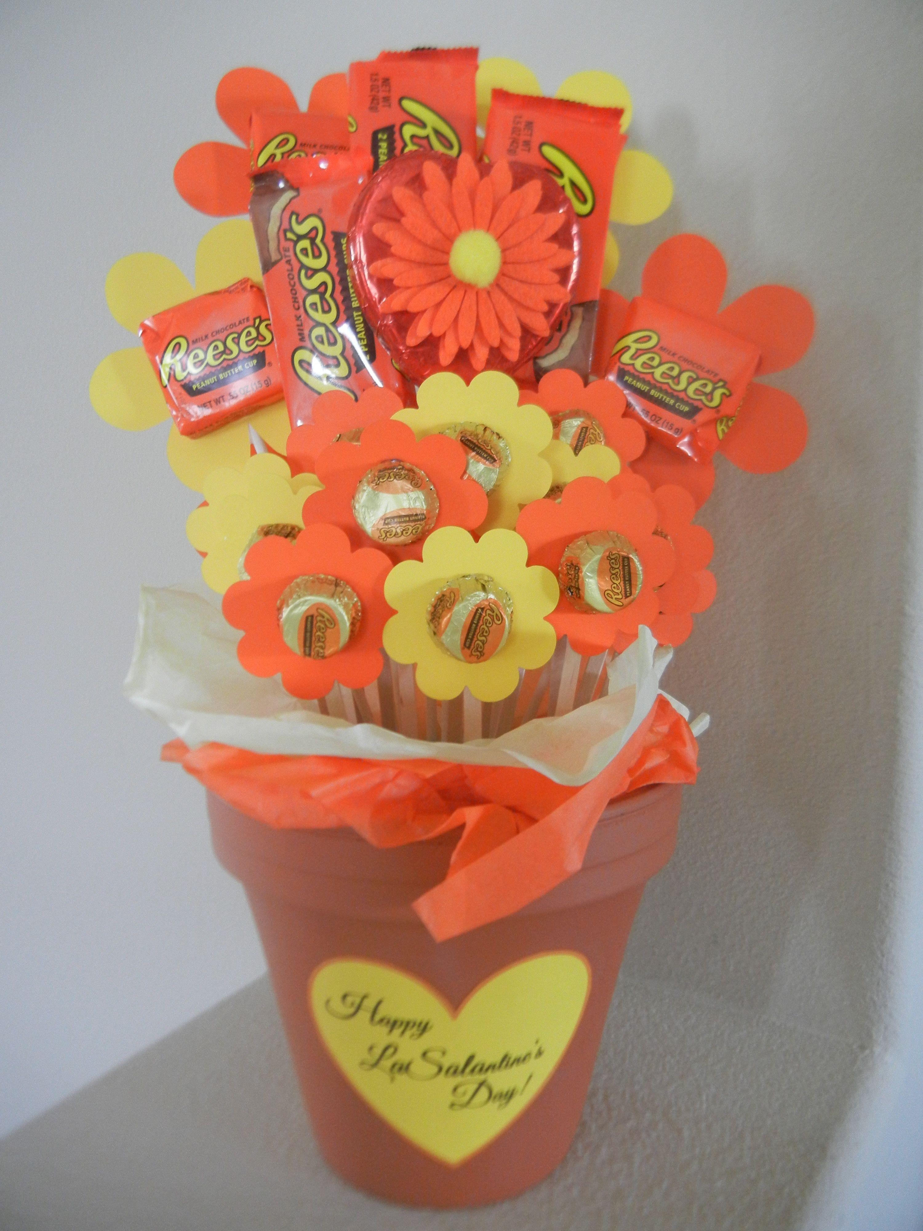 Teacher Valentine Reeses Peanut Butter Cup Bouquet