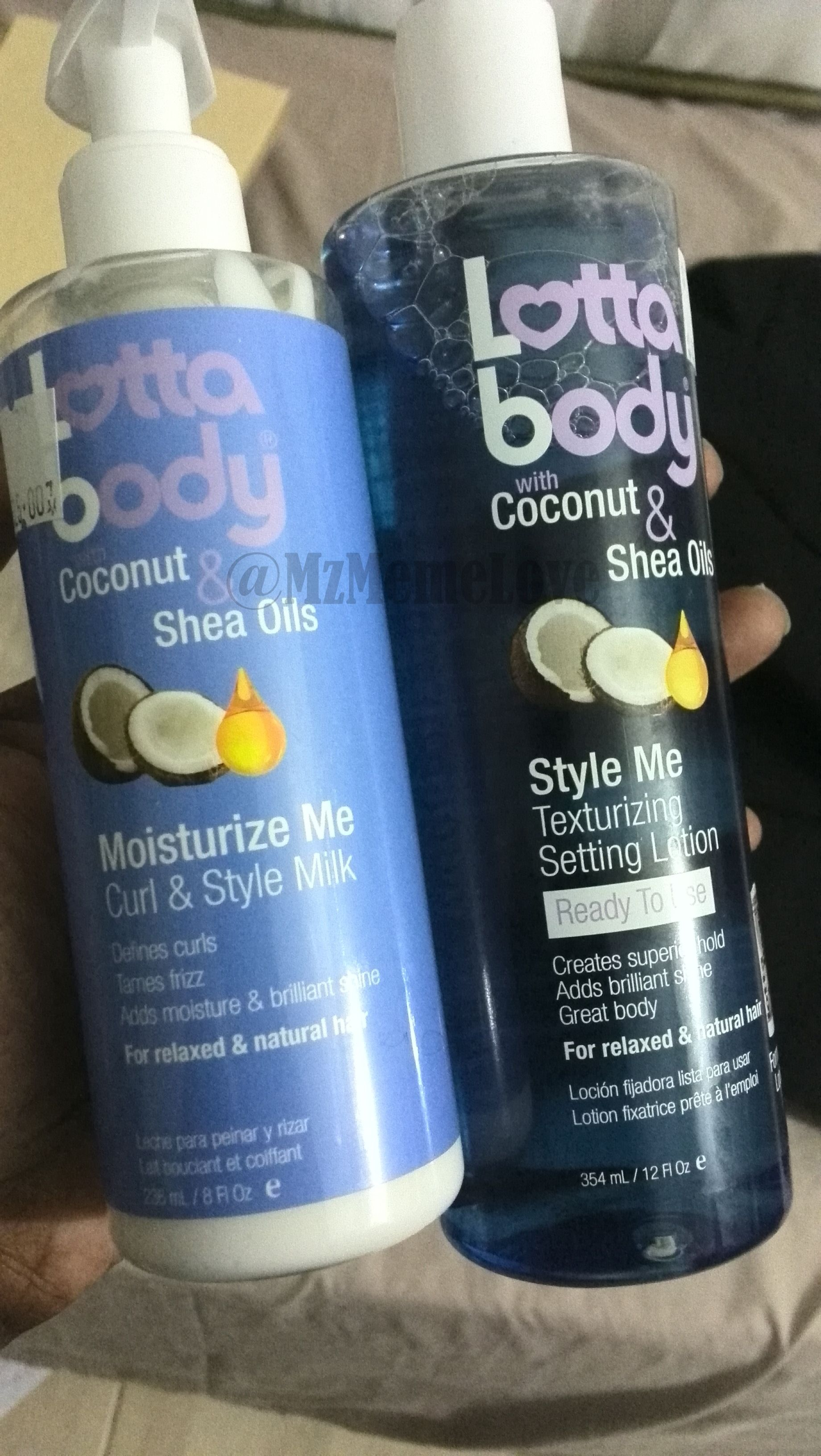 Lotta Body Curl & Style Milk (L) and Setting Lotion (R