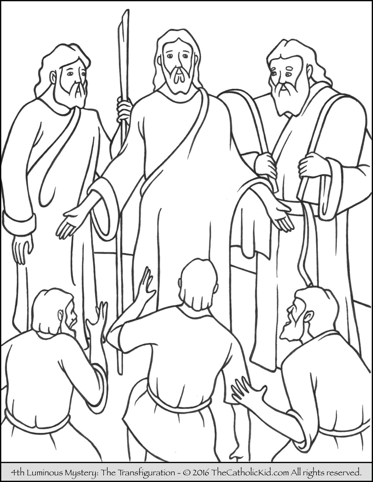 The 4th Luminous Mystery Coloring Page The
