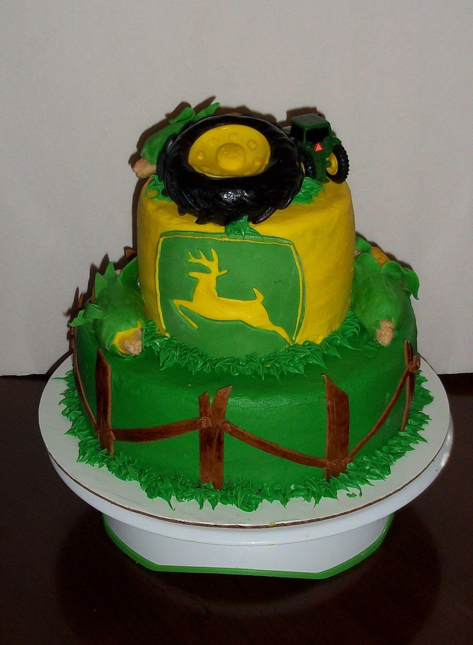 2 Tier John Deere Birthday Cake