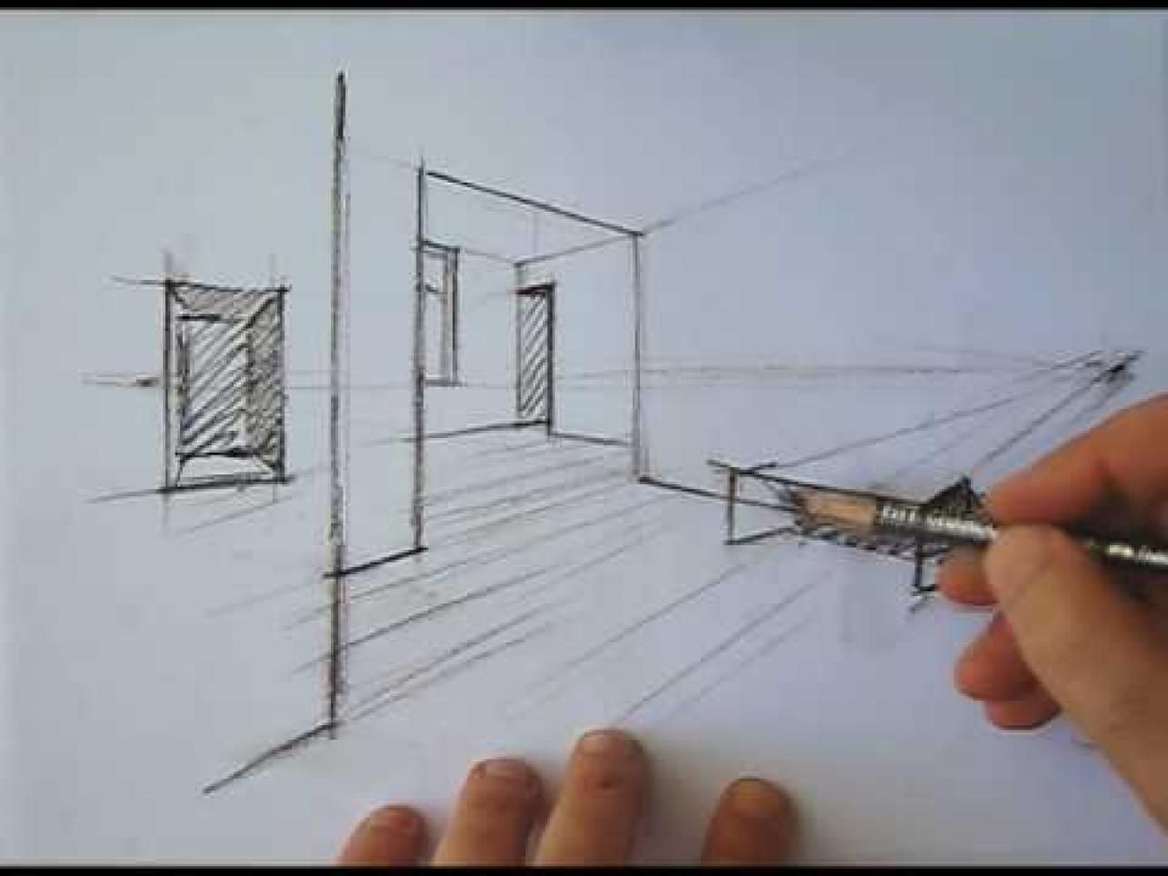 Drawing Linear Perspective Two Point Perspective Example For Free Drawing Lessons Visit