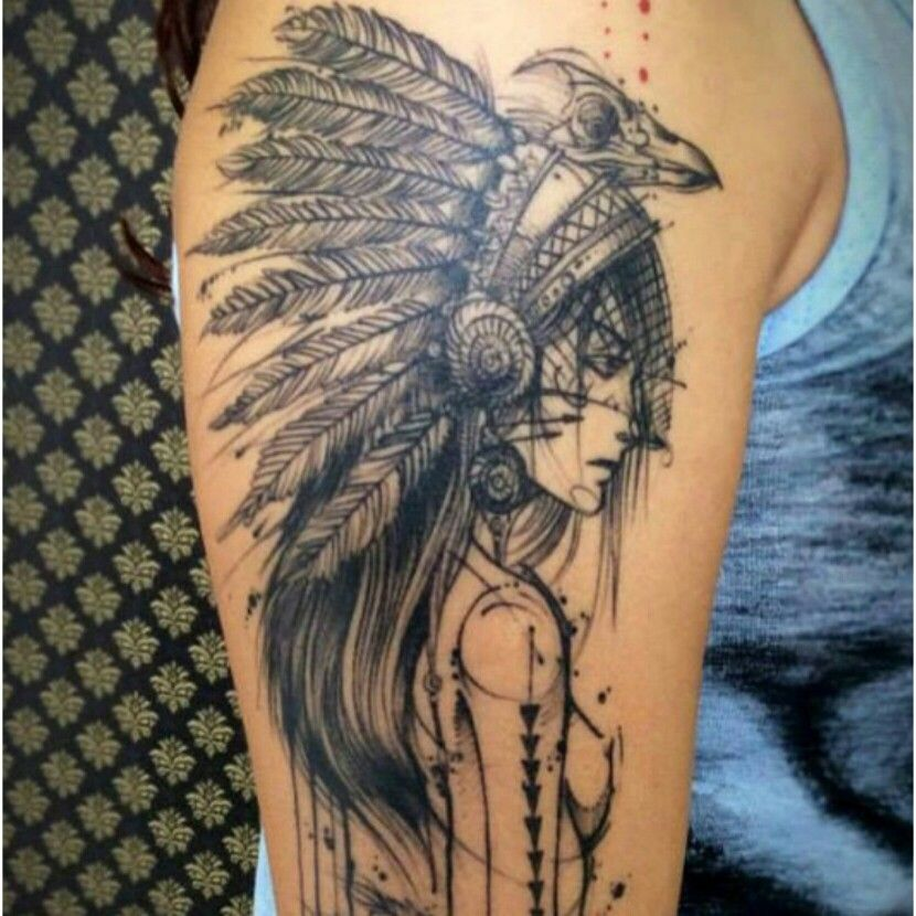 Indian girl tattoo Tattoos Pinterest