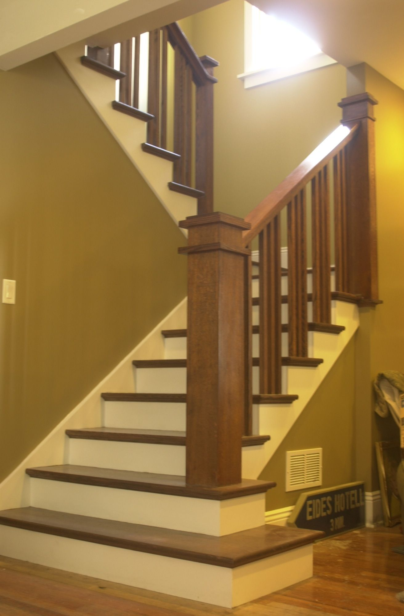 Stairs to Dormer Room love the craftsman feel House