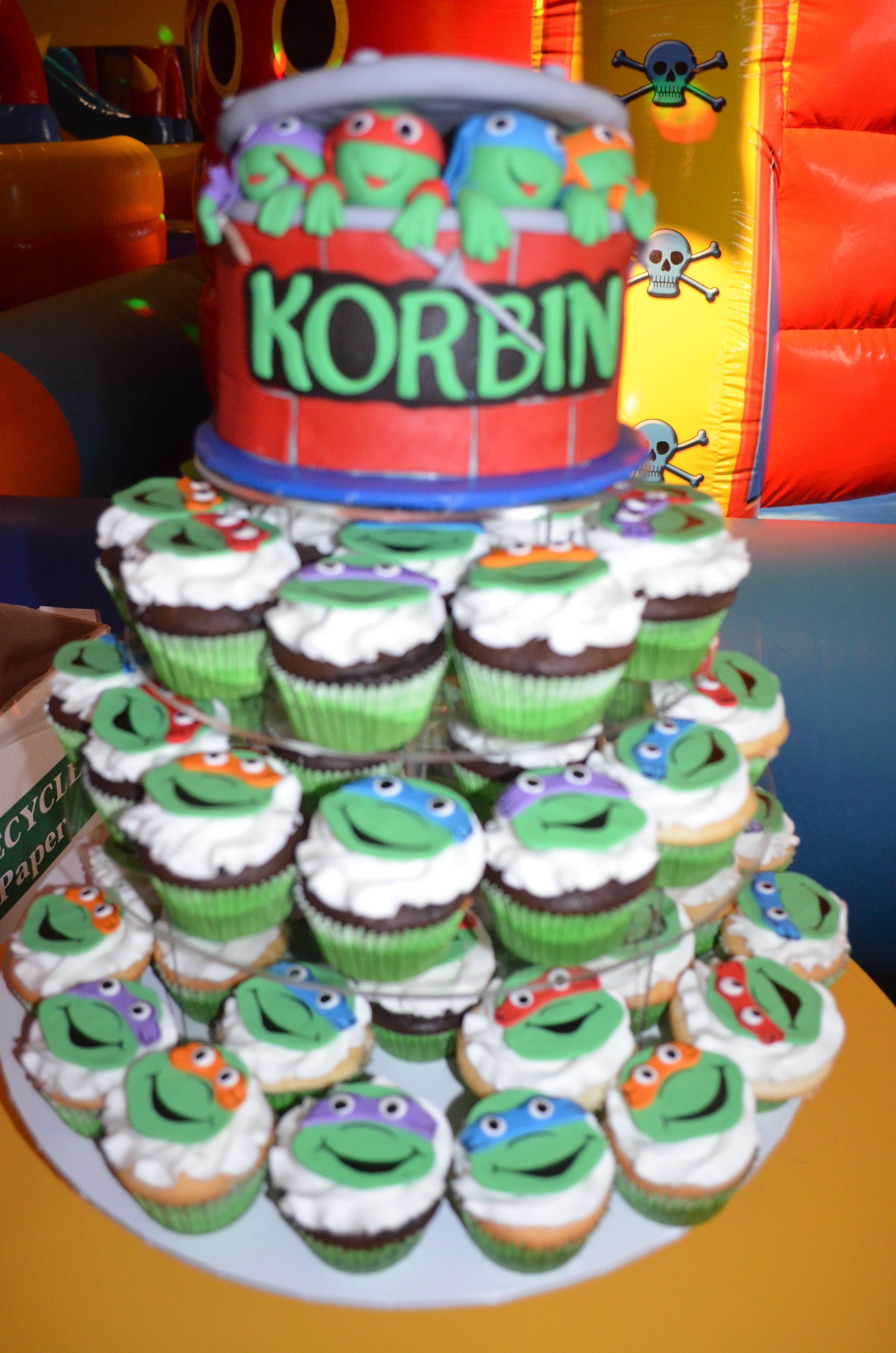Teenage Mutant Ninja Turtles Birthday Cake