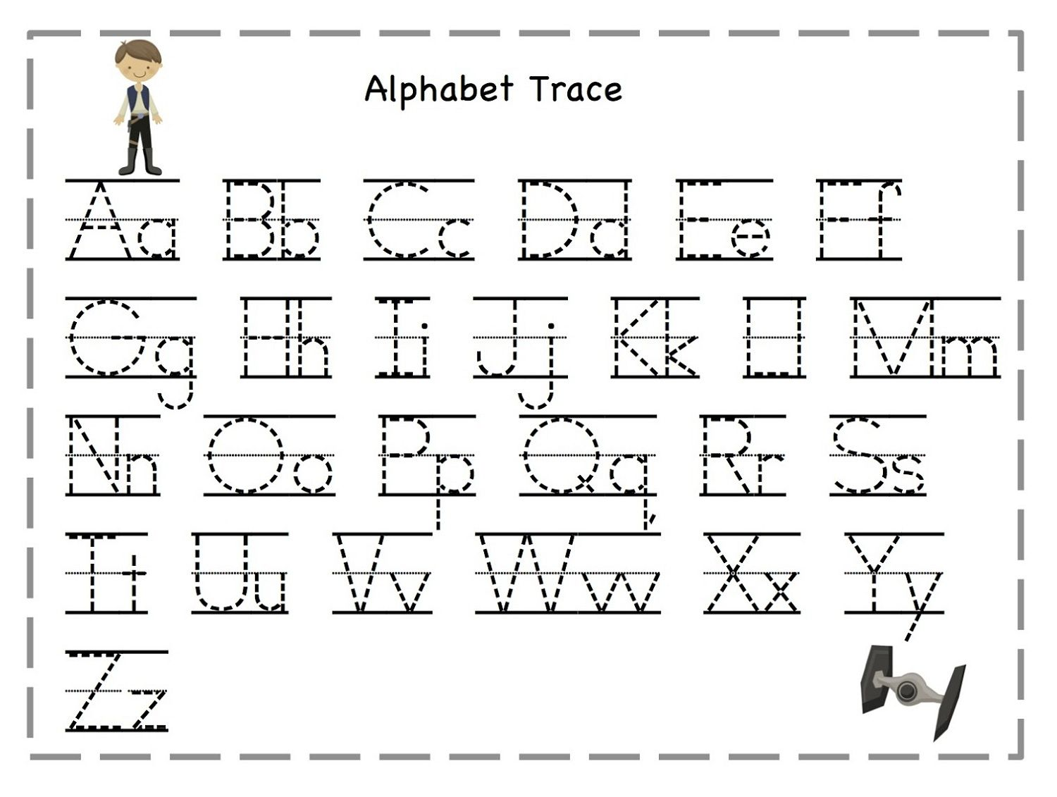 Letter A Tracing Worksheets For Preschool