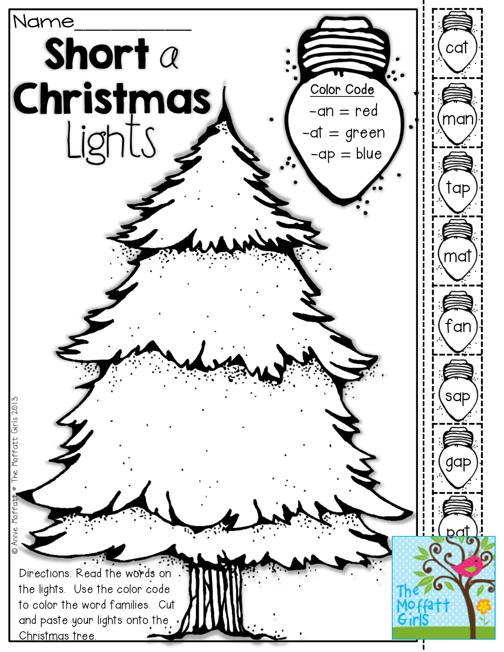 Christmas Lights Riding Worksheets
