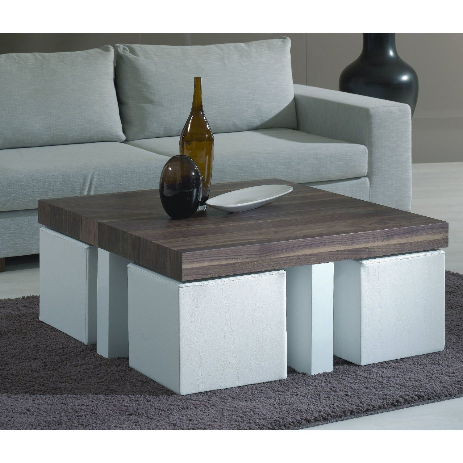 Coffee table with stools love this idea for stools