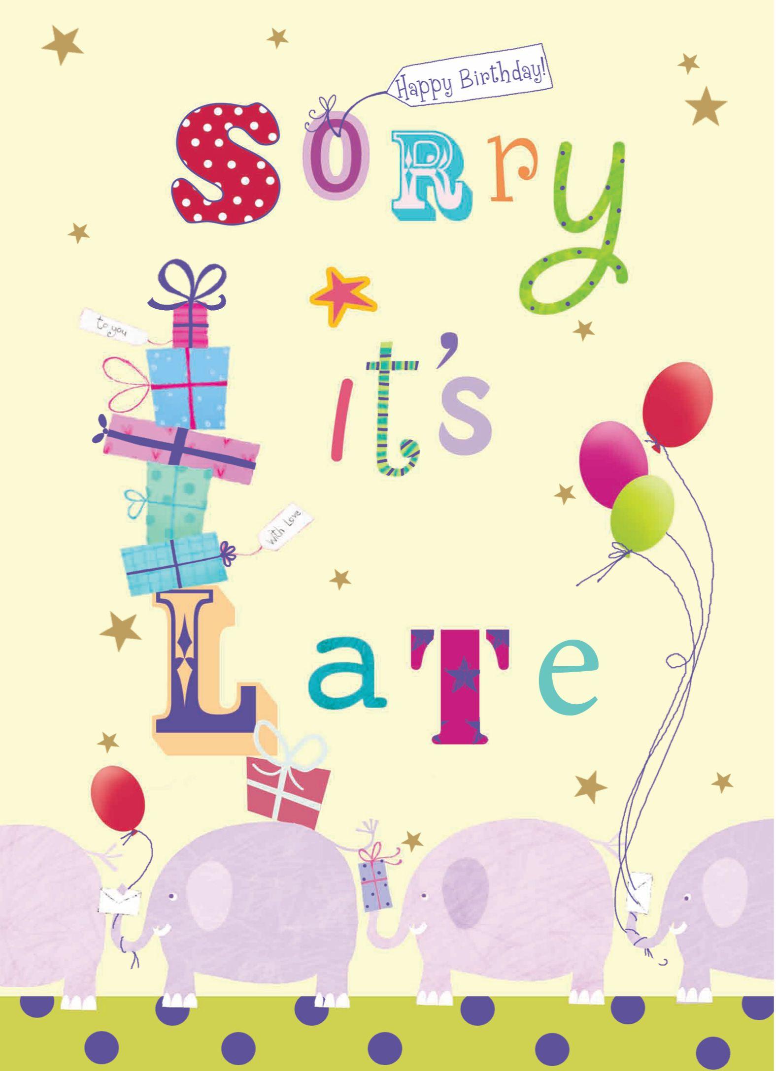 Late birthday wishes. BelatedBirthday BirthdayCards