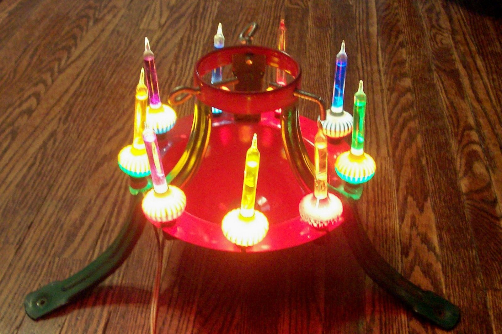 Vintage 40 S 50 S Electric Christmas Tree Stand W Noma Bubble Lights Rare