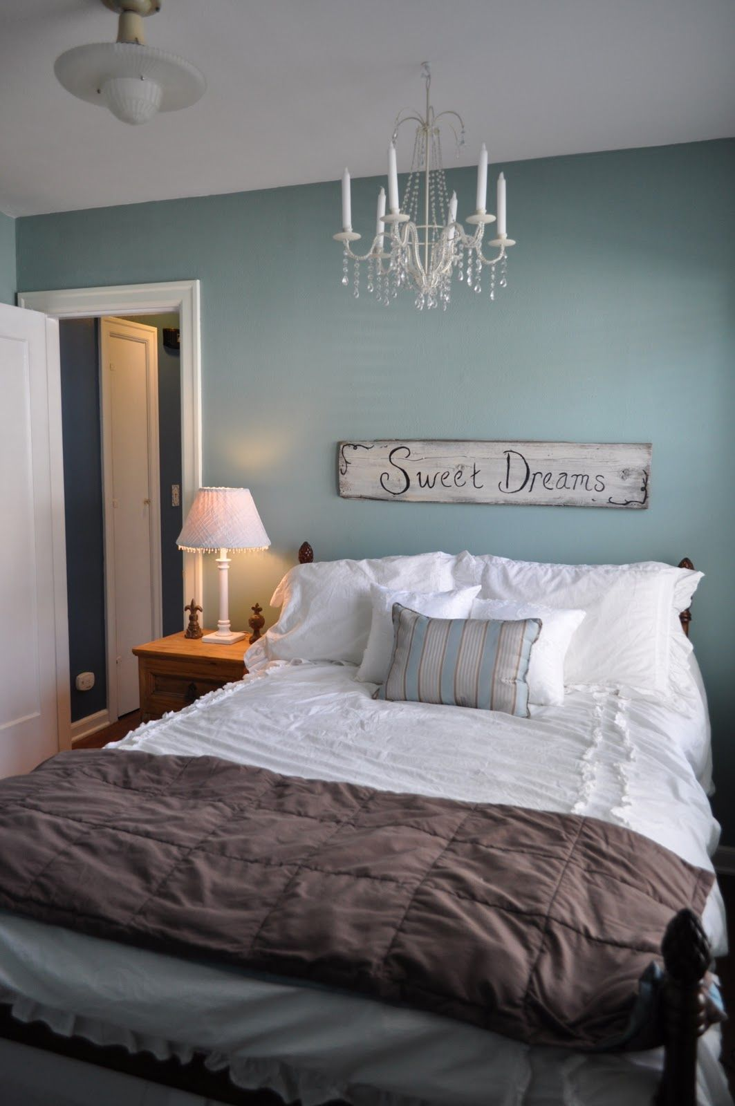 Bedroom - Wall Painting. (Love this color, just reminds me ...