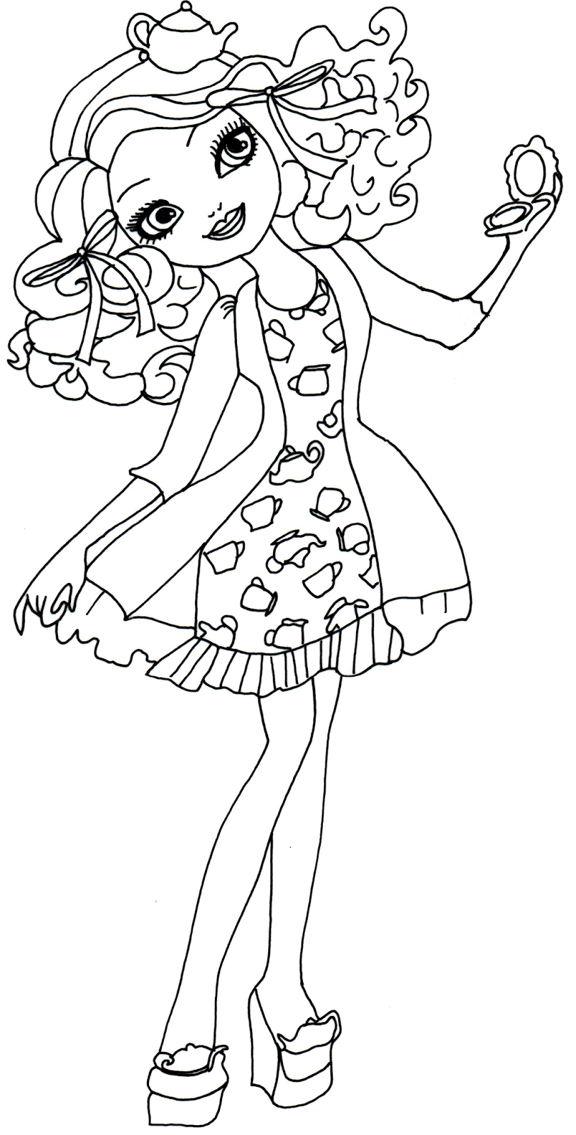 Madeline Hatter Getting Fairest Coloring Page 812×1600 2