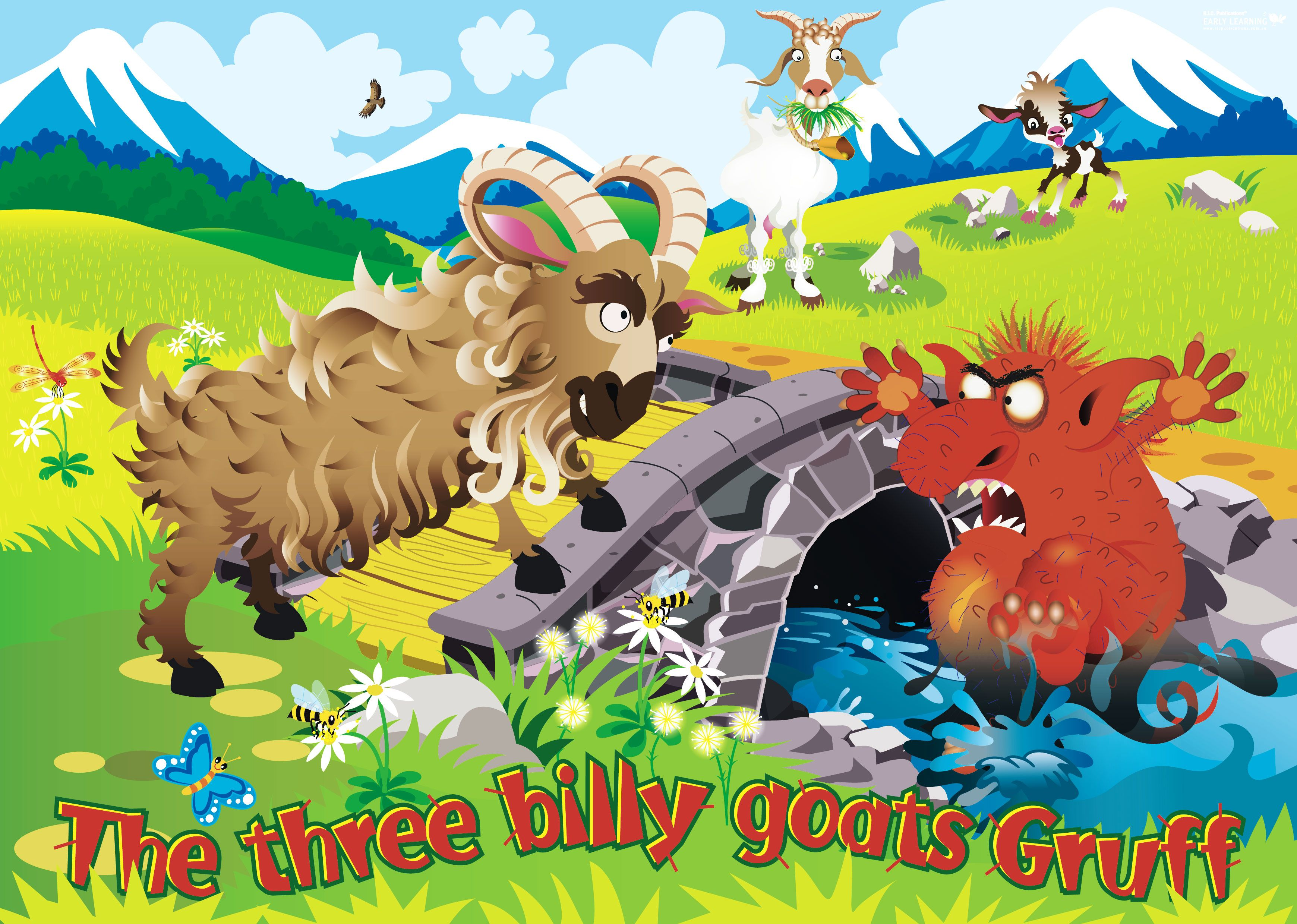 The Billy Goats Gruff Cartoon