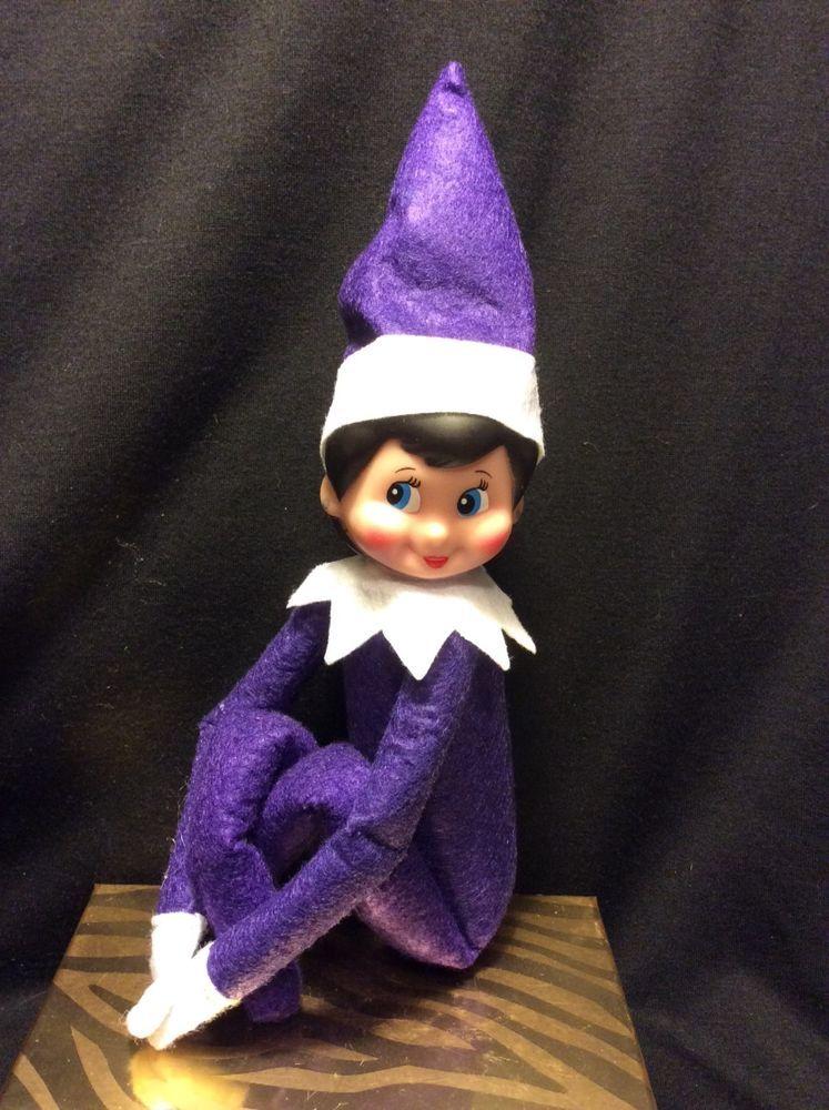 Elf On The Shelf Rare Purple plush elf girl doll Elves