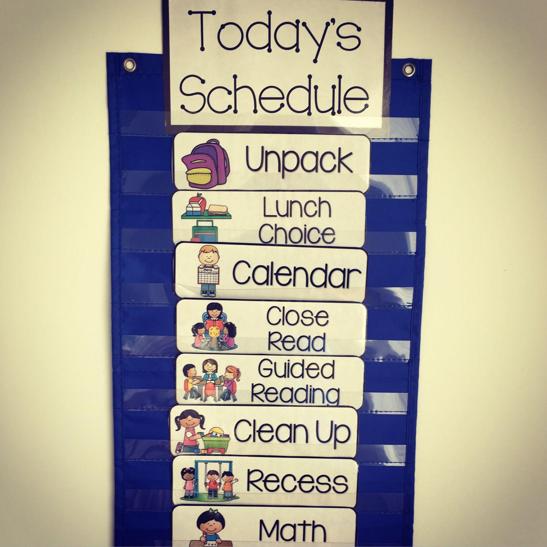 Class Visual Schedule Cards