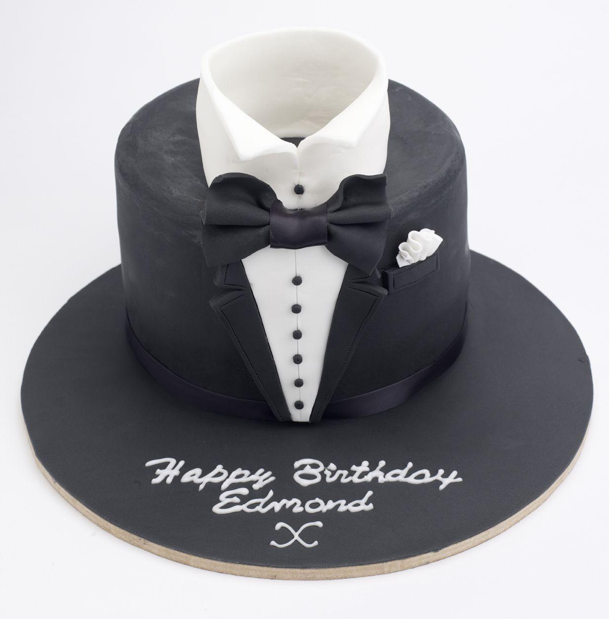Tuxedo Birthday Cake Mens Cake Birthday Cake