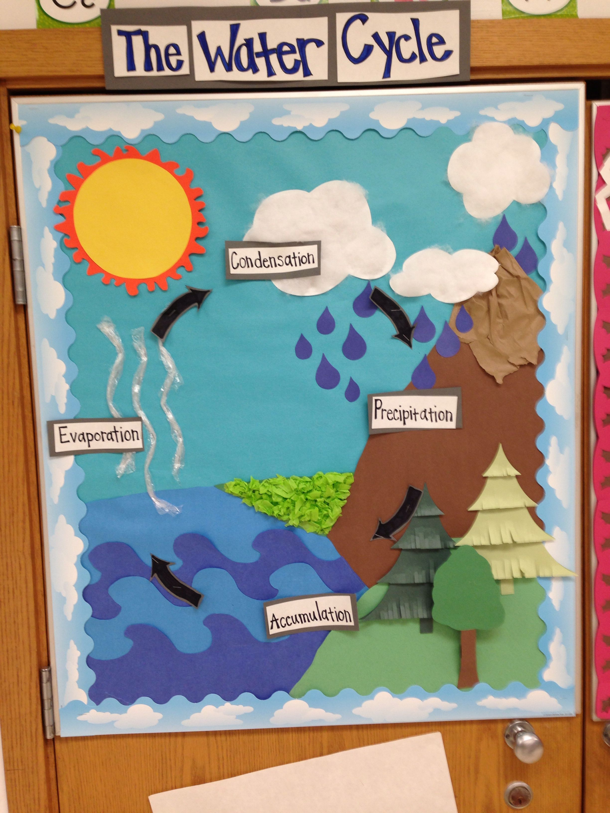 Water Cycle Bulletin Board Student Teaching 101