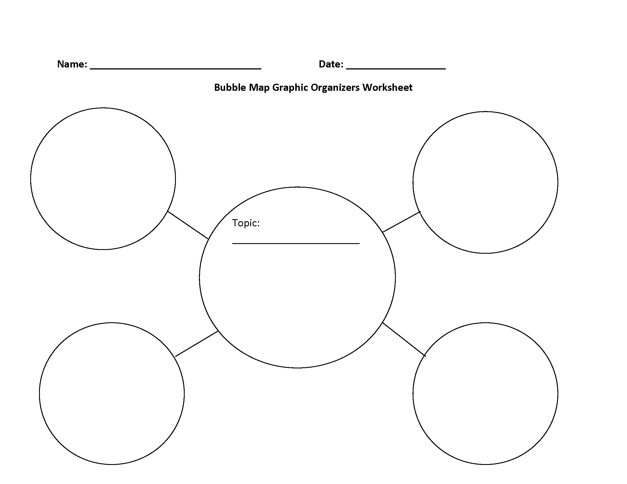 Bubble Map Graphic Organizers Worksheet