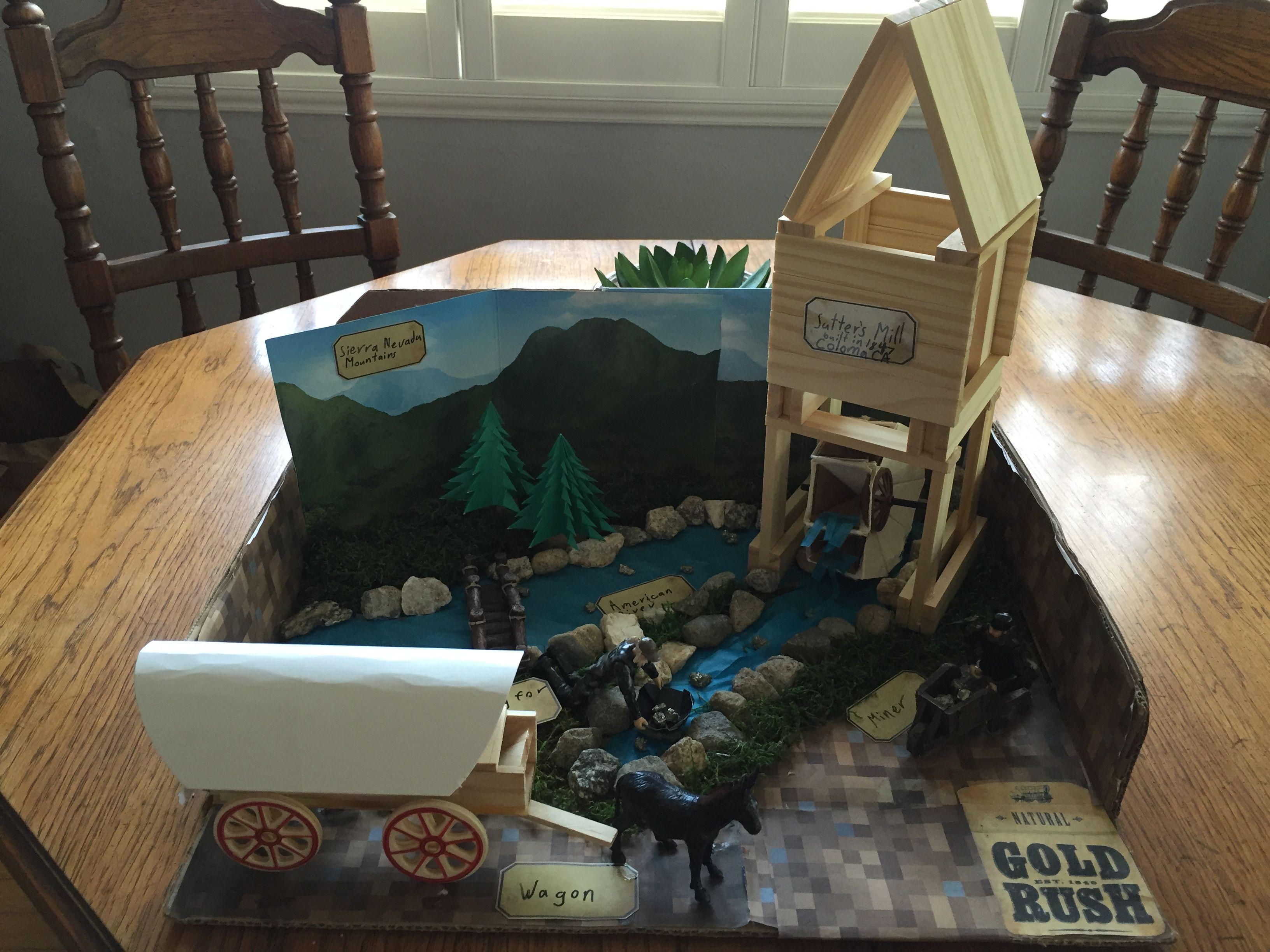 Ca Gold Rush Diorama 4th Grade