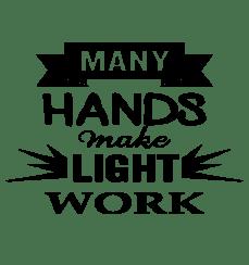 Image result for many hands make light work