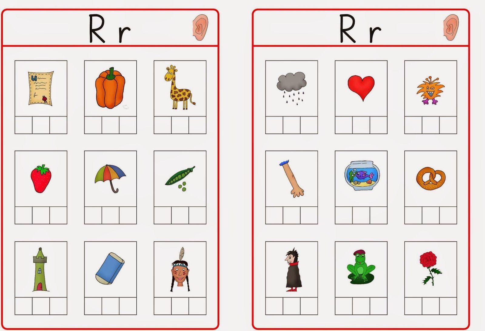 Preschool Phonological Awareness Worksheets