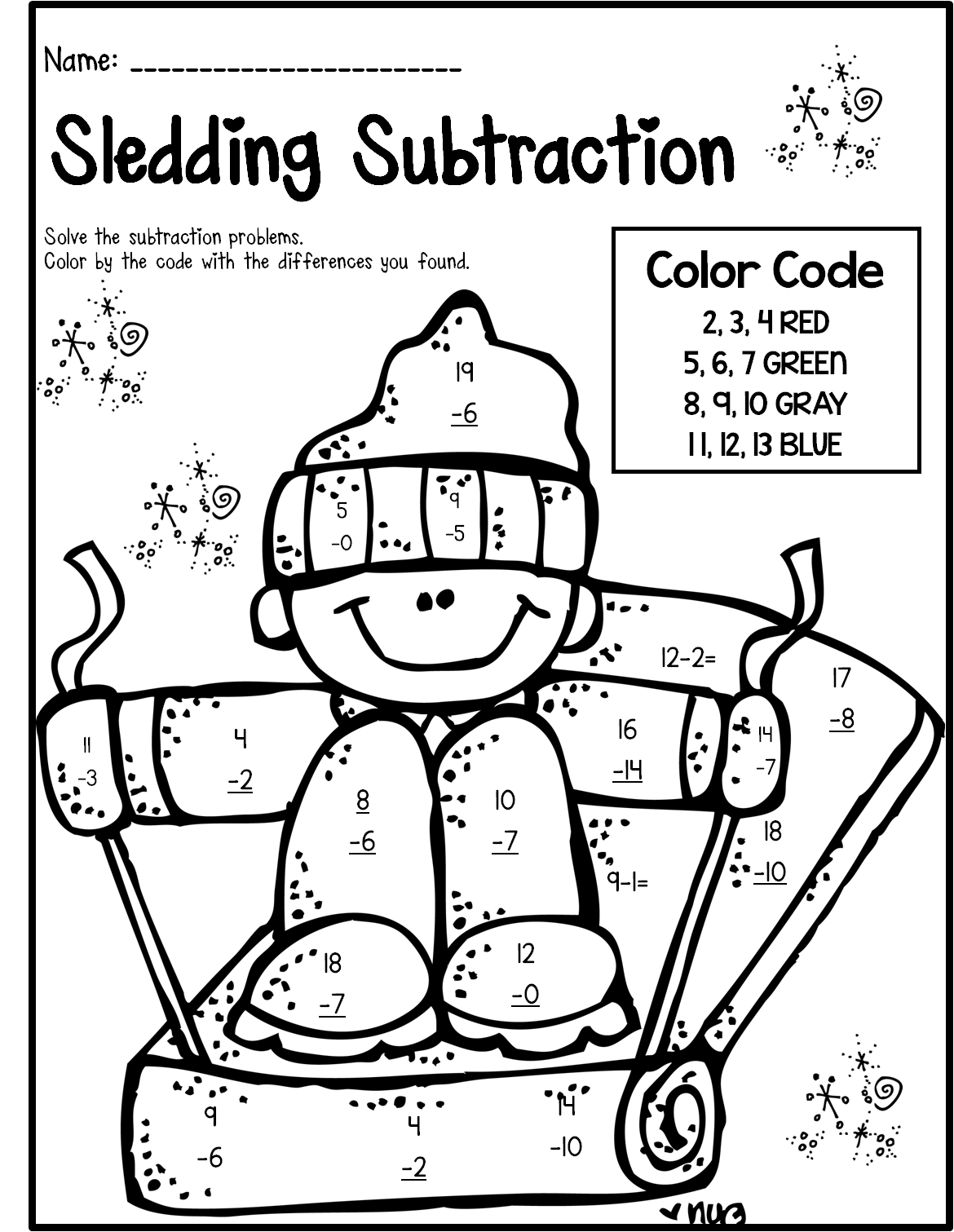 Mathematics Pin Second Grade Fu For Holiday Time And Good For Leatnign Math Winter Print And