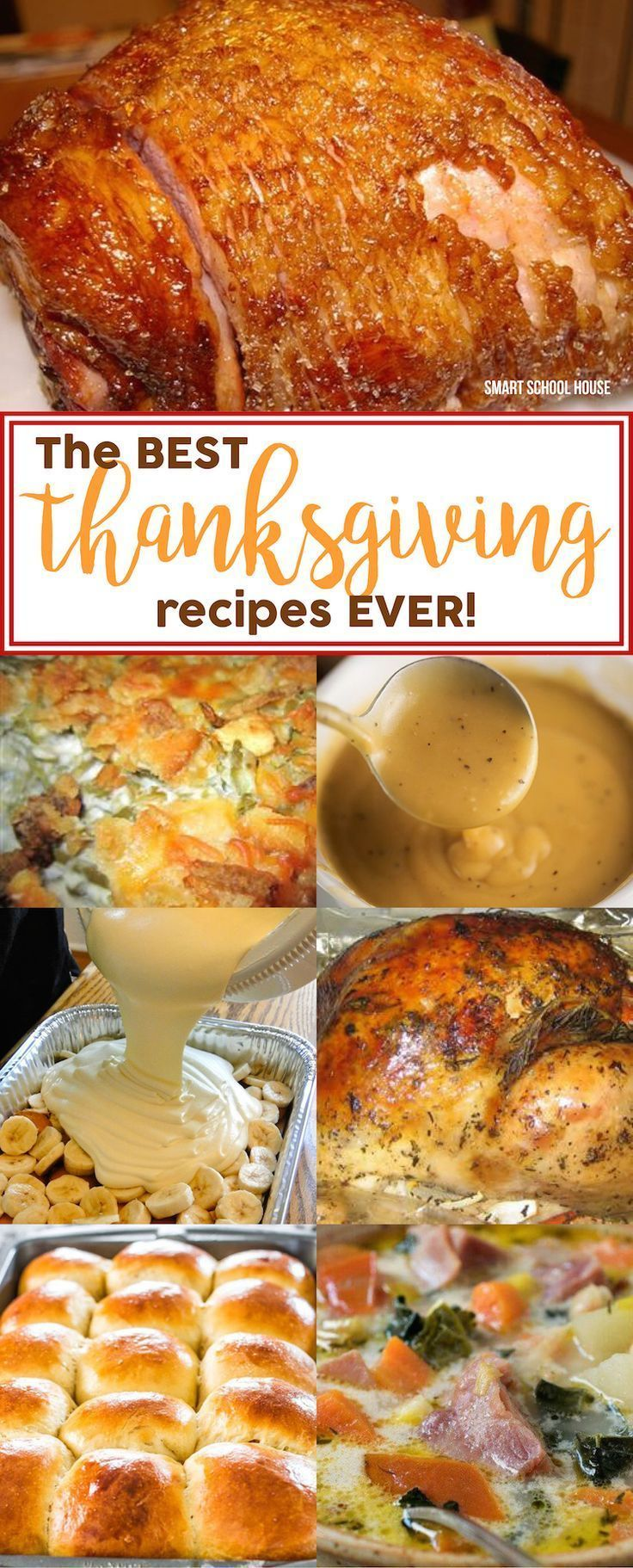 The BEST Thanksgiving recipes EVER! The best recipes for Thanksgiving turkey and stuffing, pumpkin pie, mashed potatoes, gravy,