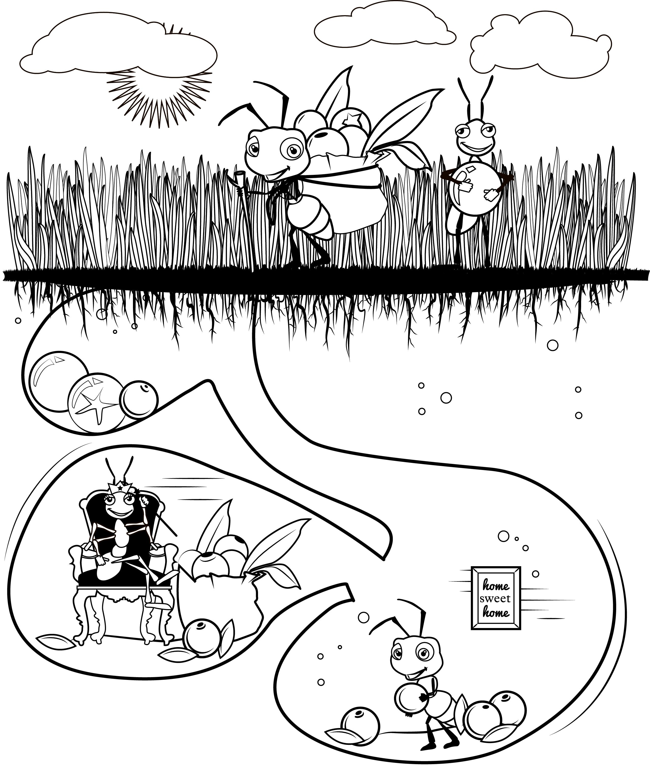 antz coloring pages dreamworks - Clip Art Library | 3022x2557