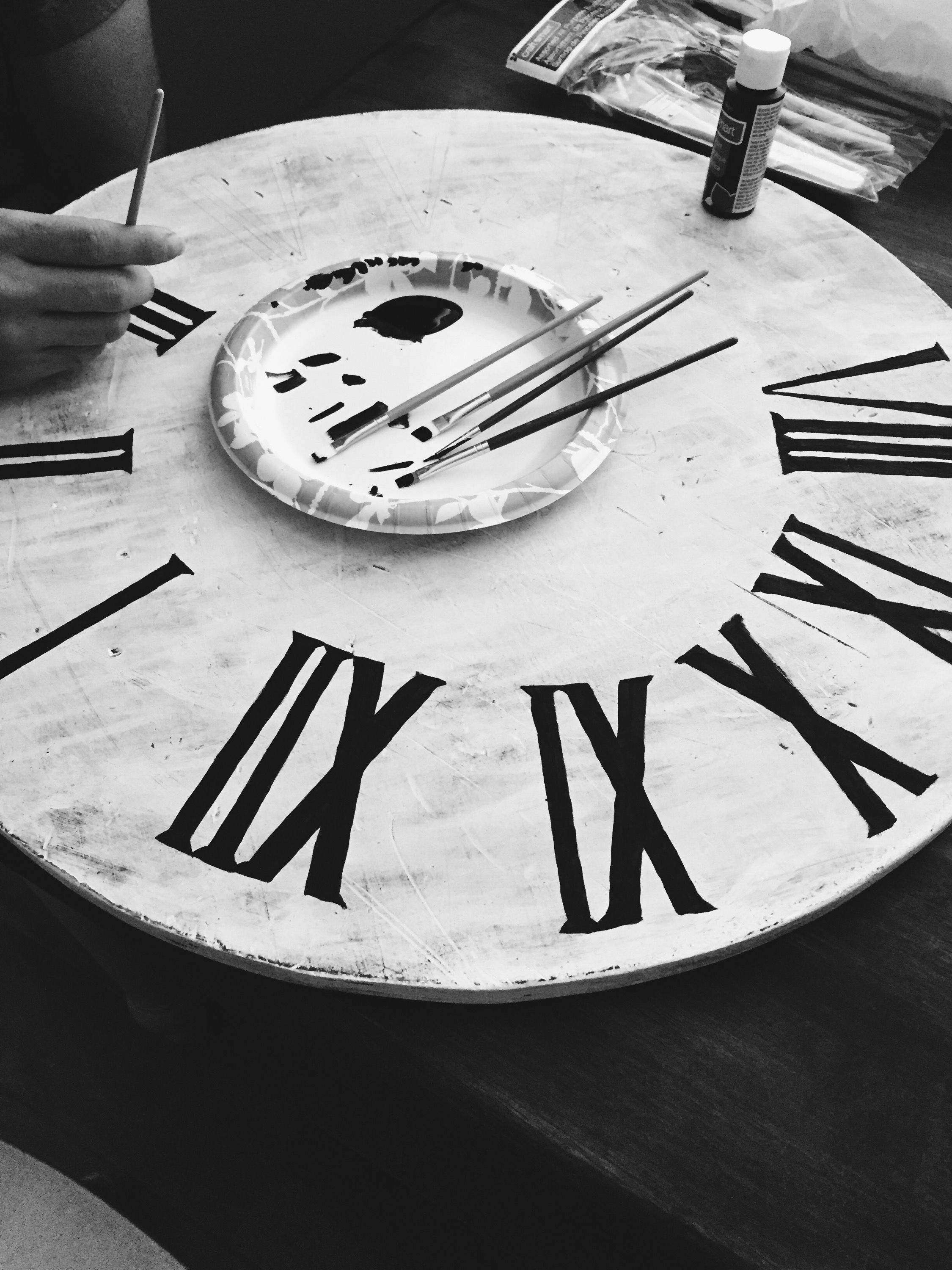 How To Make A Wooden Roman Numeral Clock Similar To The