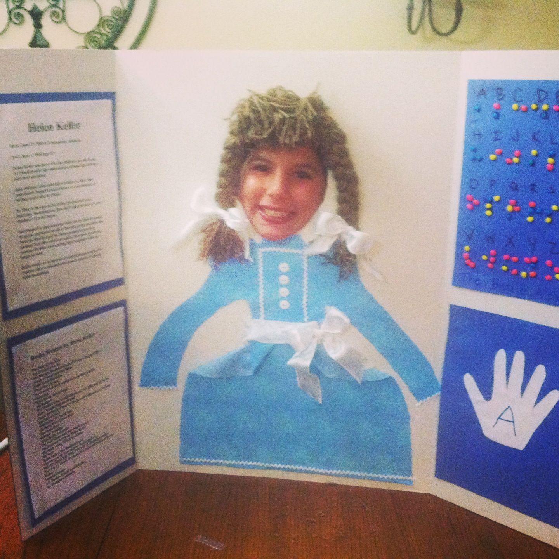 Helen Keller Poster Board Project