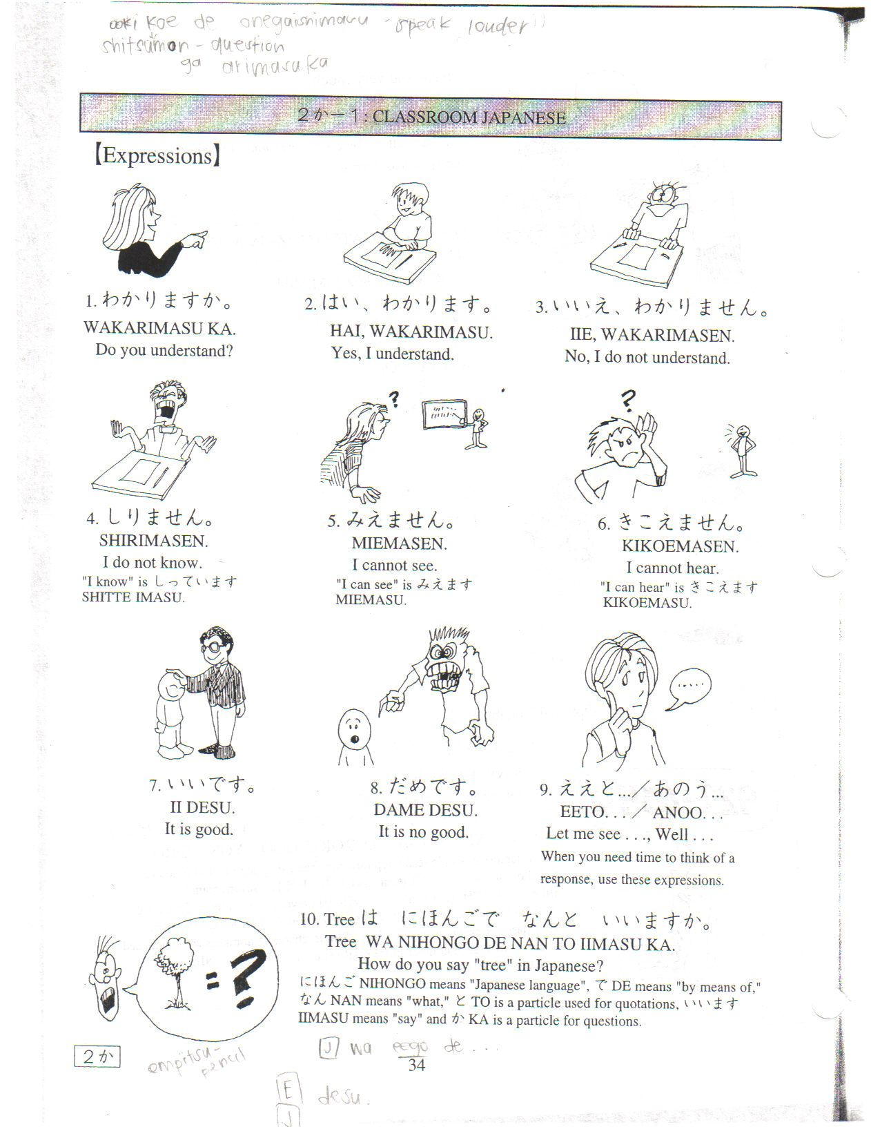 Japanese Worksheet Learnjapanese